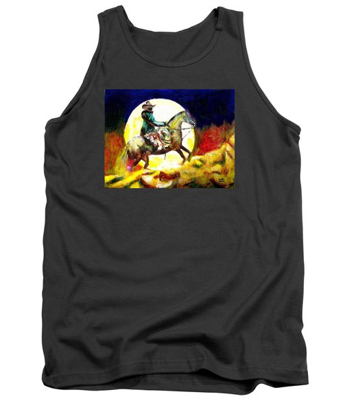 Tank Top featuring the painting Canyon Moon by Seth Weaver