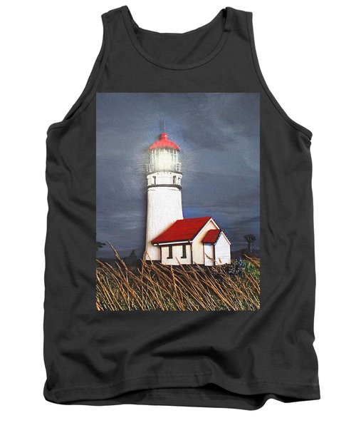 Tank Top featuring the relief Cape Blanco Glow by Wendy McKennon