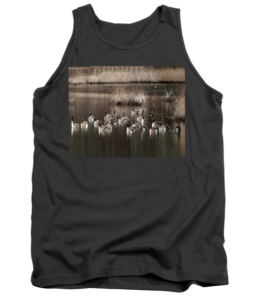 Cape Cod Americana Canada Geese Tank Top by Constantine Gregory