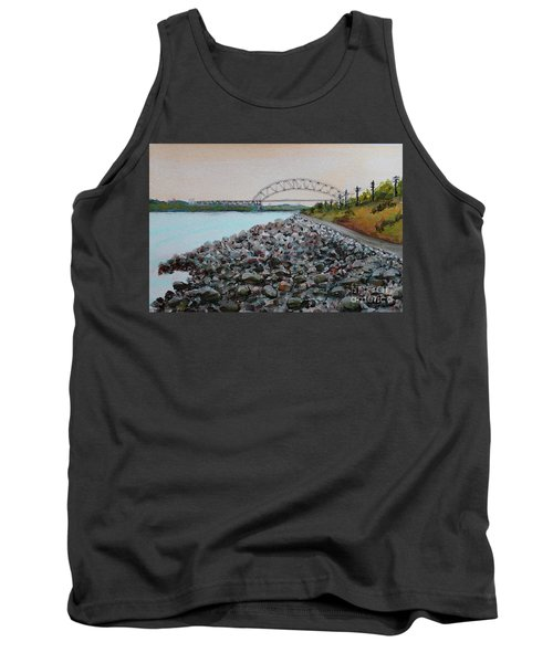 Cape Cod Canal To The Bourne Bridge Tank Top by Rita Brown