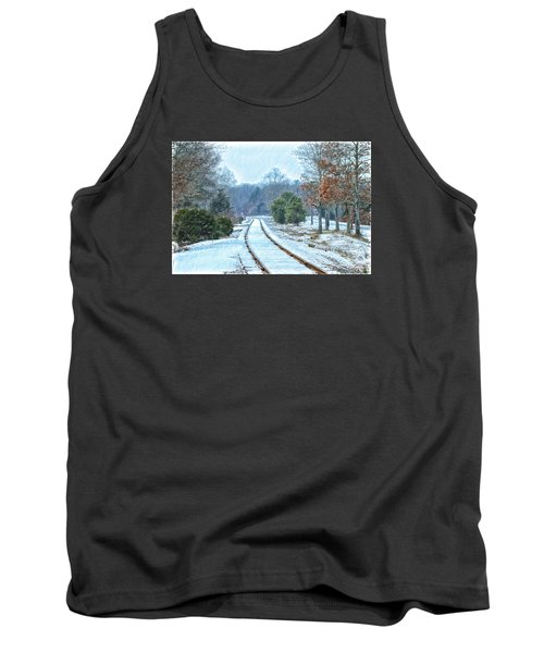 Cape Cod Rail And Trail Tank Top by Constantine Gregory