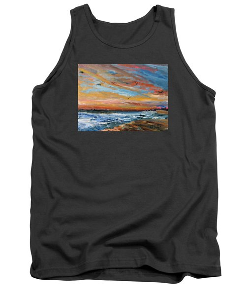Cape Cod Sunrise Tank Top by Michael Helfen