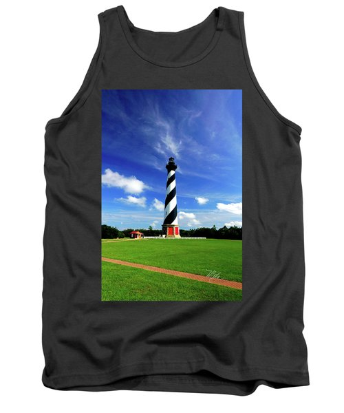 Tank Top featuring the photograph Cape Hatteras Lighthouse by Meta Gatschenberger