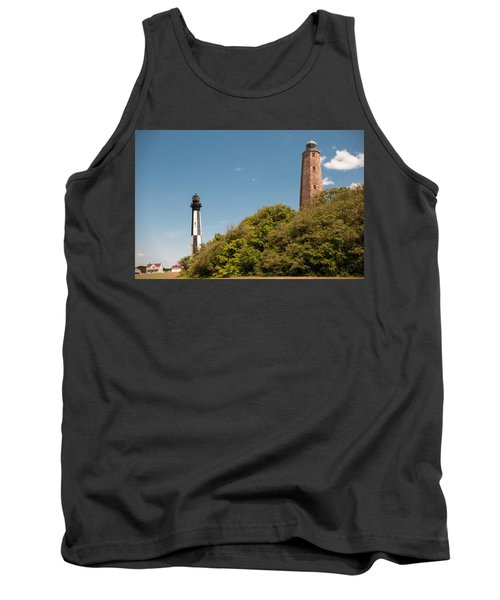 Cape Henry Lighthouses Old And New Tank Top