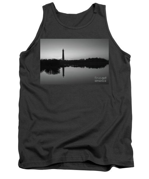Cape May Lighthouse At Blue Hour Bw  Tank Top