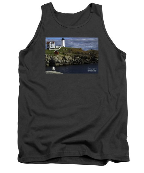 Tank Top featuring the photograph Cape Neddick Lighthouse by Mim White