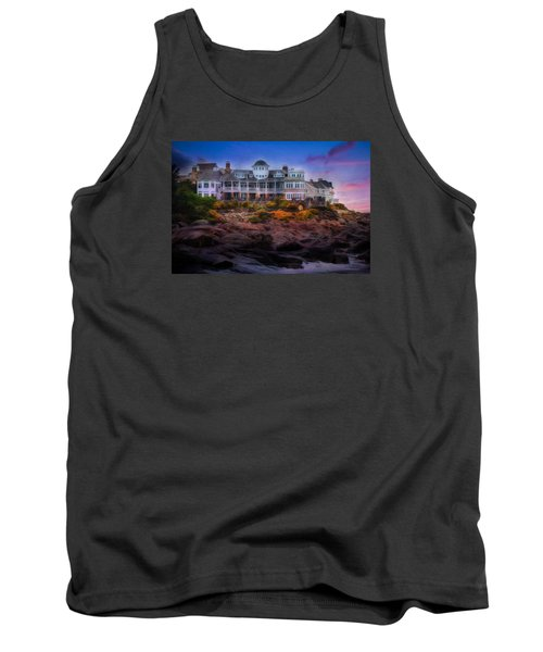 Tank Top featuring the photograph Cape Neddick Maine Scenic Vista by Shelley Neff