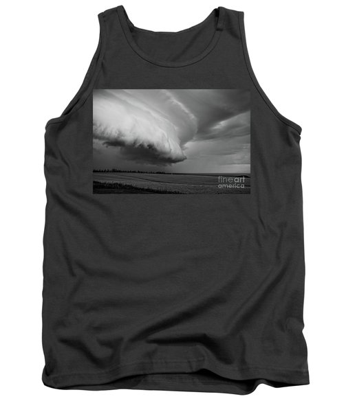 Tank Top featuring the photograph Cape Tyron Vortex Black And White by Edward Fielding