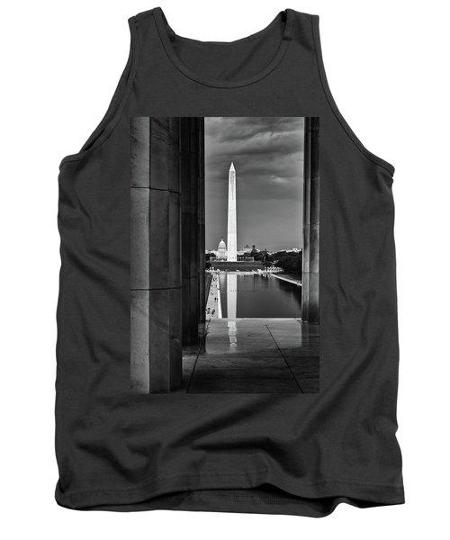 Capita And Washington Monument Tank Top by Paul Seymour
