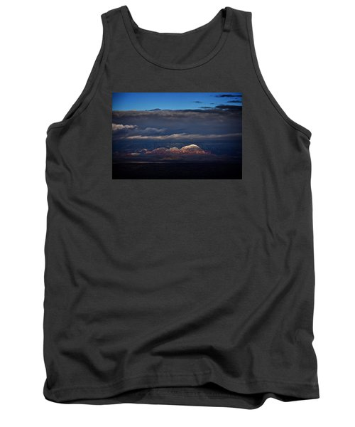 Tank Top featuring the photograph Capitol Butte In Sedona With Snow by Ron Chilston