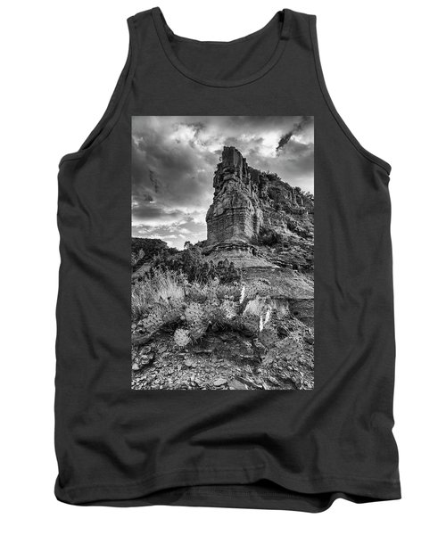 Tank Top featuring the photograph Caprock And Cactus by Stephen Stookey