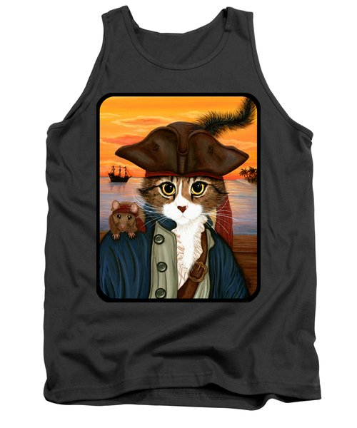 Captain Leo - Pirate Cat And Rat Tank Top
