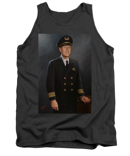 Tank Top featuring the painting Captain Max Livingston by Glenn Beasley