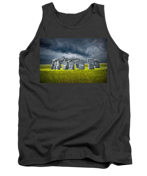 Car Henge In Alliance Nebraska After England's Stonehenge Tank Top by Randall Nyhof