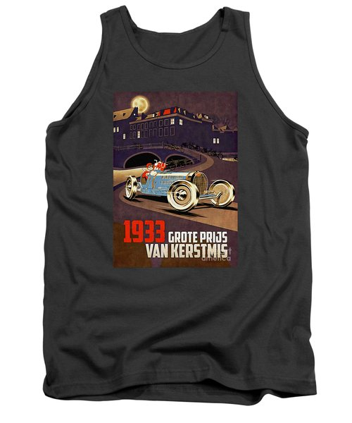 Car Racing Christmas Poster Of The 30s Tank Top