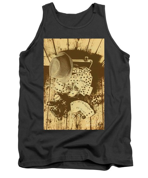 Card Games And Vintage Bets Tank Top