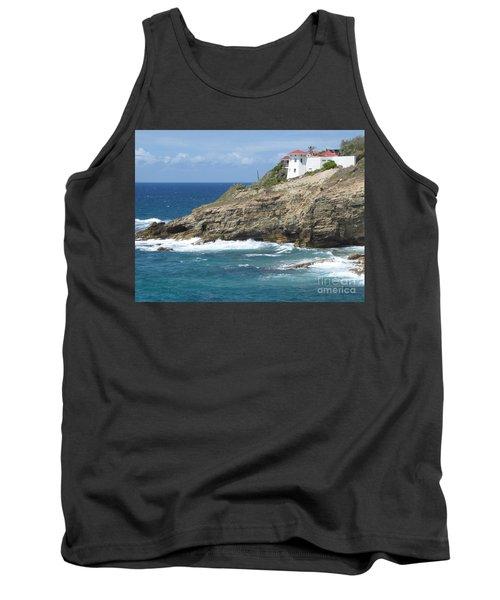 Caribbean Coastal Villa Tank Top by Margaret Brooks