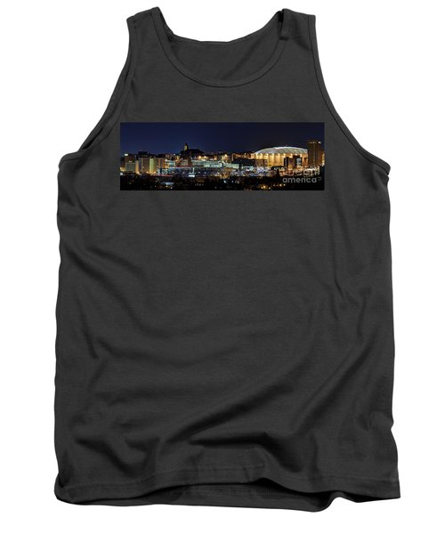 Carrier Dome And Syracuse Skyline Panoramic View Tank Top