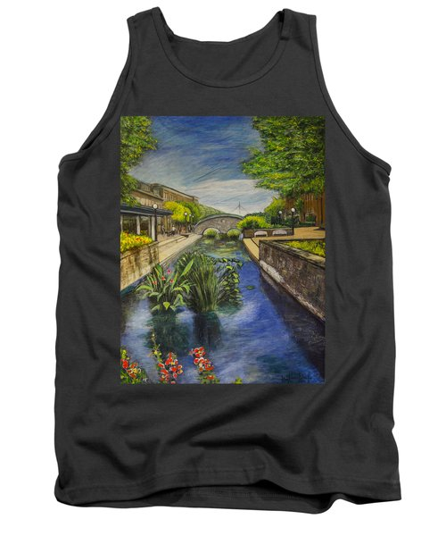 Tank Top featuring the painting Carroll Creek by Ron Richard Baviello