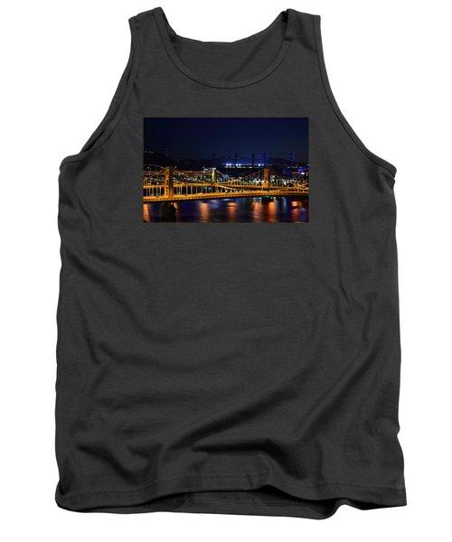 Carson Bridge At Night Tank Top by William Bartholomew