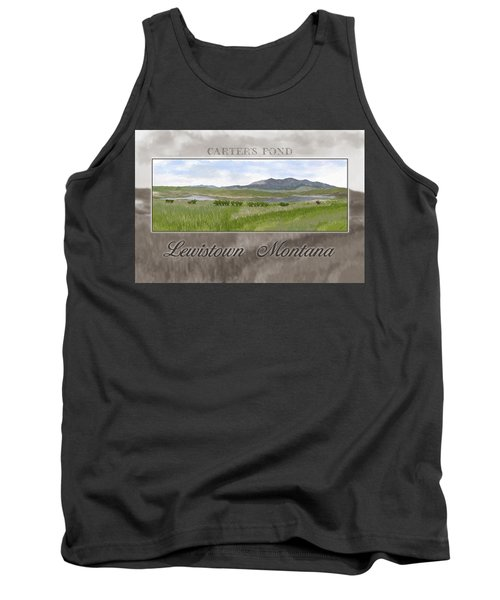 Tank Top featuring the digital art Carter's Pond by Susan Kinney