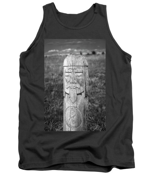 Tank Top featuring the photograph Carved Genghis Khan, Elsen Tasarkhai, 2016 by Hitendra SINKAR