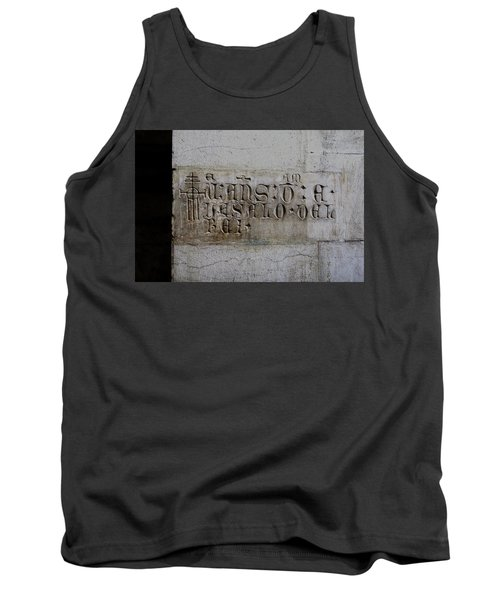 Tank Top featuring the photograph Carved In Stone by Lorraine Devon Wilke
