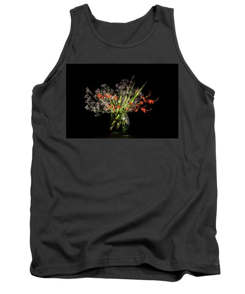 Cascade Of White And Orange. Tank Top by Torbjorn Swenelius