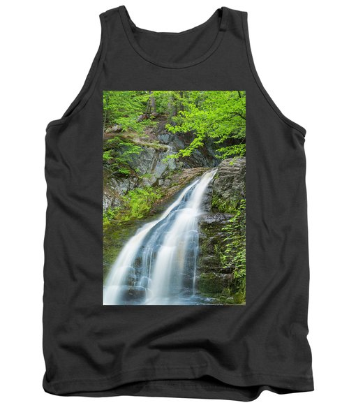Tank Top featuring the photograph Cascade Waterfalls In South Maine by Ranjay Mitra