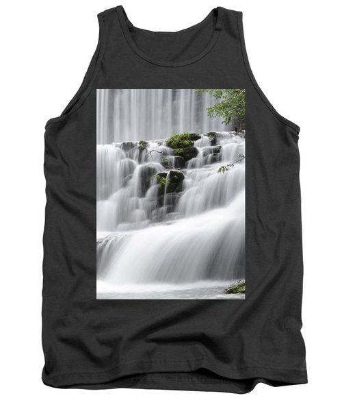 Tank Top featuring the photograph Cascading Mirror Lake Falls by Renee Hardison