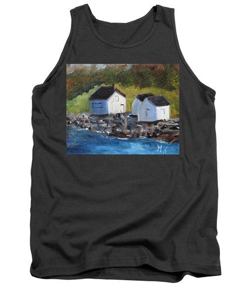 Casco Bay Boat Houses Tank Top