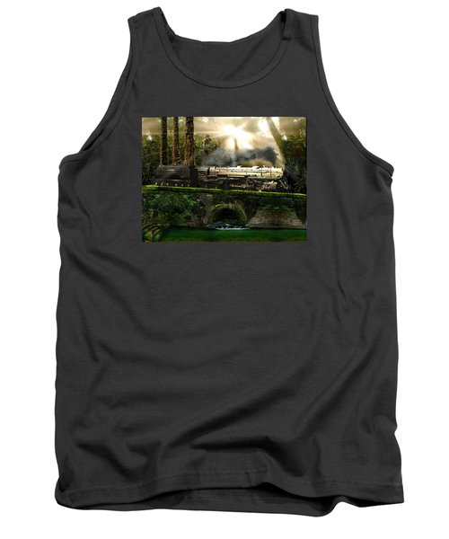 Tank Top featuring the painting Casey Jones by Michael Cleere