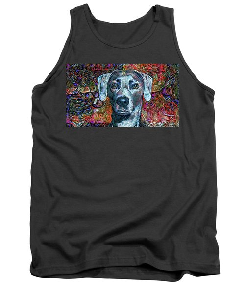 Cash The Blue Lacy Dog Tank Top