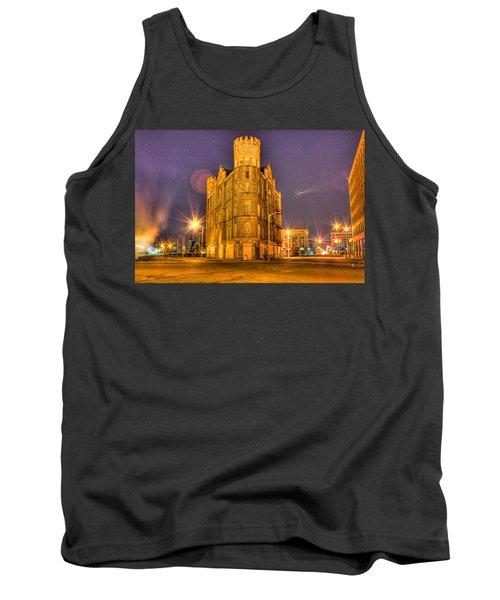 Cass Castle Detroit Mi Tank Top by Nicholas  Grunas
