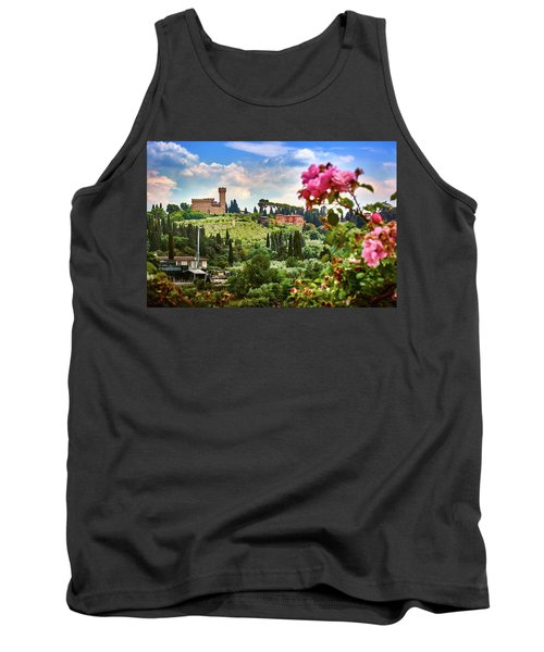 Castle And Roses In Firenze Tank Top