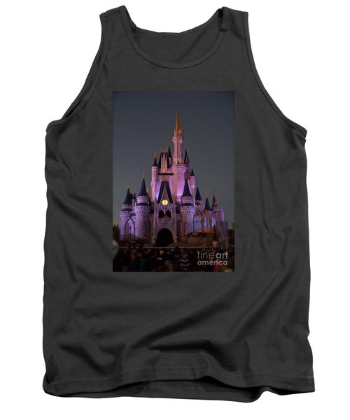 Tank Top featuring the photograph Castle At Twilight by Carol  Bradley
