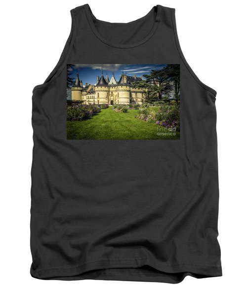 Tank Top featuring the photograph Castle Chaumont With Garden by Heiko Koehrer-Wagner