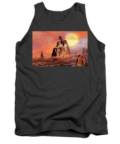 Castle On Seastack Tank Top