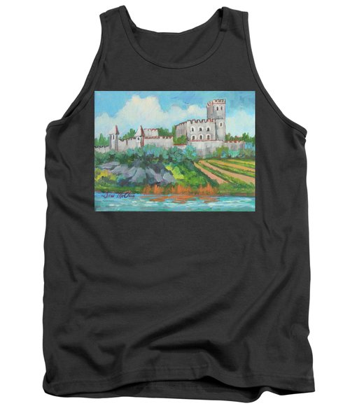 Tank Top featuring the painting Castle On The Upper Rhine River by Diane McClary