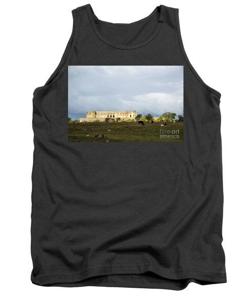 Tank Top featuring the photograph Castle Ruin In Spotlight by Kennerth and Birgitta Kullman
