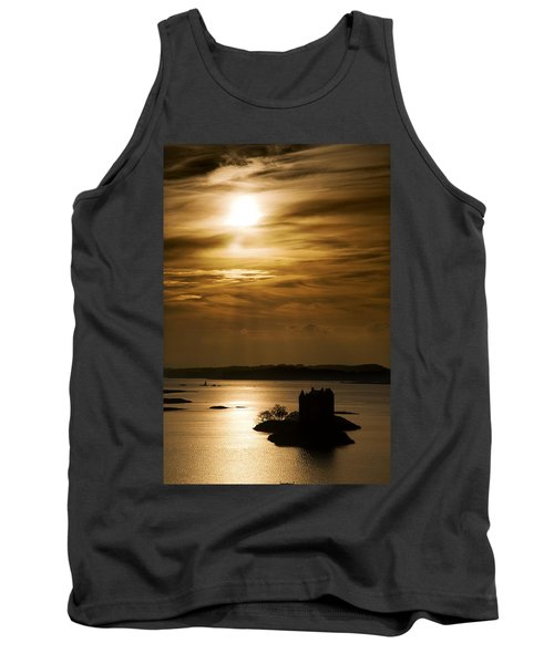 Castle Stalker At Sunset, Loch Laich Tank Top