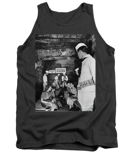 Tank Top featuring the photograph Castle Village Air Raid Shelter by Cole Thompson