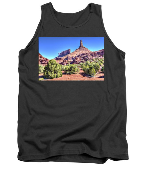 Tank Top featuring the photograph Castleton Tower by Alan Toepfer
