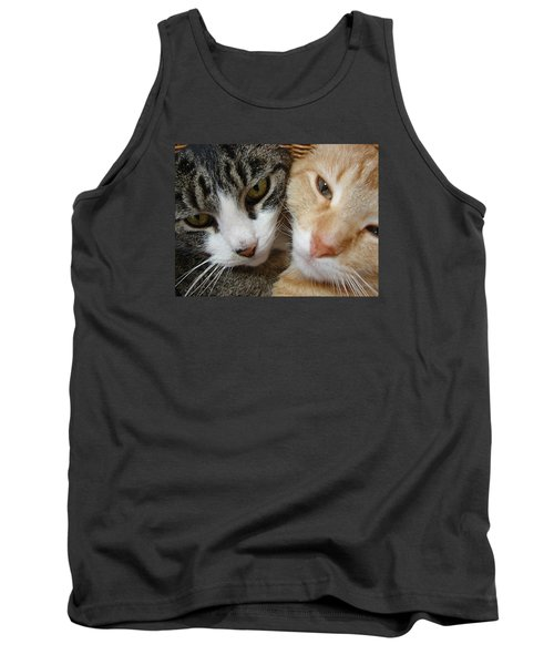 Cat Faces Tank Top by Jana Russon