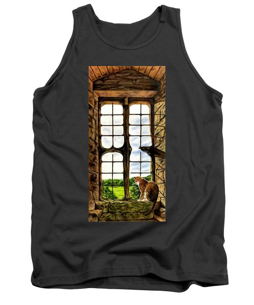Cat In The Castle Window Tank Top