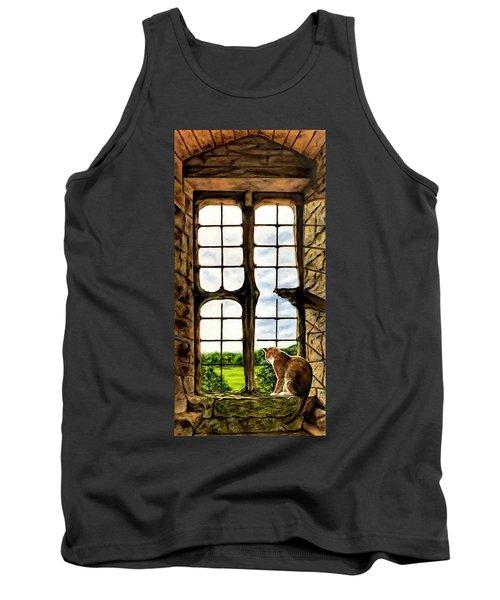 Cat In The Castle Window Tank Top