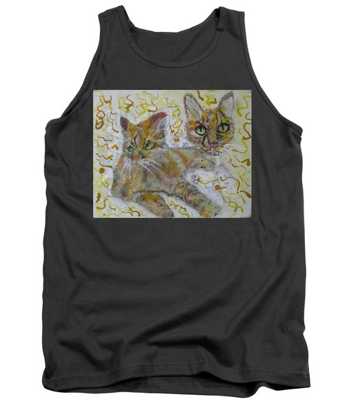 Cat Named Phoenicia Tank Top by AJ Brown