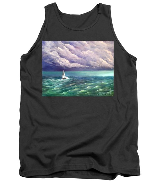 Tank Top featuring the painting Tell The Storm by Patricia L Davidson