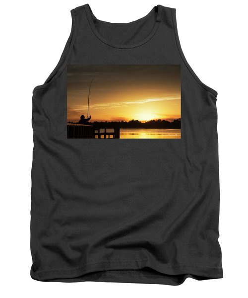 Catching The Sunset Tank Top by Phil Mancuso