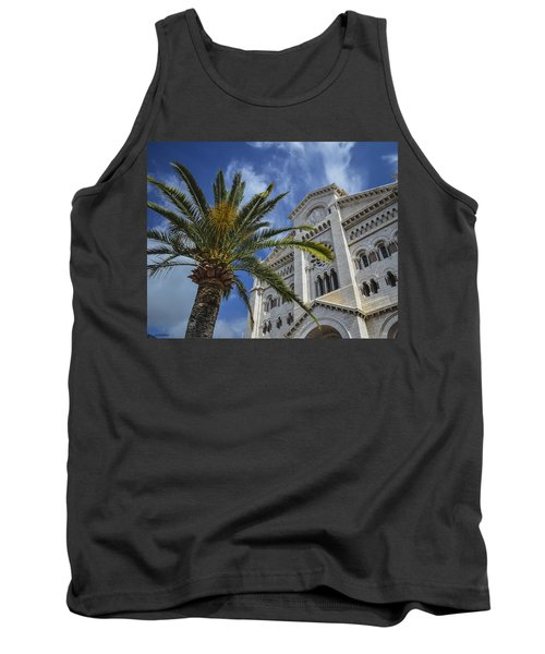 Tank Top featuring the photograph Cathedral At Monte Carlo by Allen Sheffield